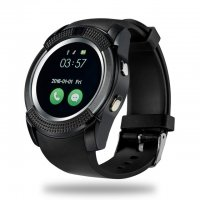 Ceas smartwatch V8-cartela SIM-camera-1.3 inch HD touchscreen-black