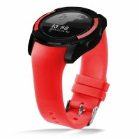 Ceas smartwatch V8-cartela SIM-camera-1.3 inch HD touchscreen-red