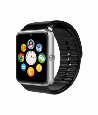 Ceas smartwatch GT08 PLUS-cartela SIM,camera,TF card-1,54 HD touchscreen-silver