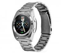 Smartwatch G6 silverbluetoothritm cardiacusmart bratara din metal