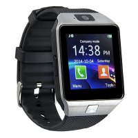 Ceas smartwatch  DZ09 PLUS-cartela SIM,camera,TF card-1.56 inch HD touchscreen-silver