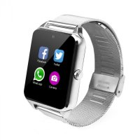 Ceas smartwatch Aipker metalic-cartela SIM,camera,TF card-1,54 HD touchscreen-silver
