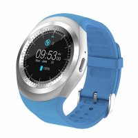 Ceas smartwatch Aipker-cartela SIM-camera-1.3 inch HD touchscreen-albastru