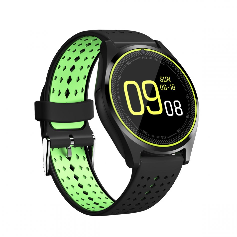 smartwatch v10 black green