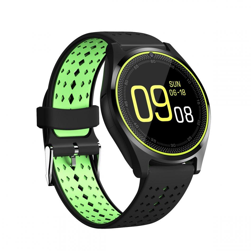 smartwatch v10 black green