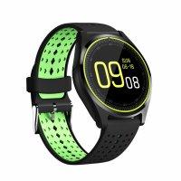 Ceas smartwatch Aipker V10-cartela SIM-camera-1.3 inch HD touchscreen-negru verde
