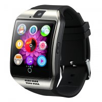 Ceas smartwatch  Q18  -ecran curved- cartela SIM-TF card-1,54 HD touchscreen-silver