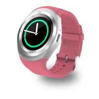 Ceas smartwatch Aipker-cartela SIM-camera-1.3 inch HD touchscreen-roz