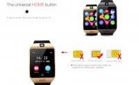 smartwatch q18 gold ecran curbat