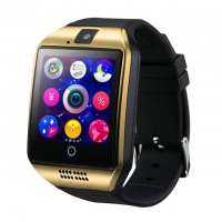 Ceas smartwatch  Q18  -ecran curved- cartela SIM-TF card-1,54 HD touchscreen-gold