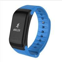 Bratara fitness Aipker F1- ritm cardiac,tensiunea arteriala,blood oxygen -blue