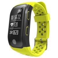 Bratara fitness Aipker S908-GPS incorporat,rezistent la apa ,galben