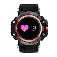 Smartwatch sport Aipker GW68- anti shock,ritm cardiac,blood oxygen -red black