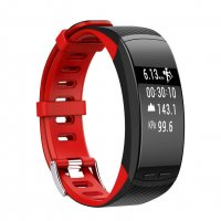 Bratara fitness Aipker P5 ritm cardiac,GPS incorporat-red black