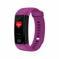 Bratara fitness Aipker F07-monitorizare inot,tensiune,ritm cardiac -violet
