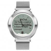 Ceas hybrid smartwatch Aipker I6 rezistent la apa metalic -silver