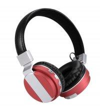 Casti bluetooth Dinamic X3  cu Wireless, izolare zgomot ,control Apeluri si card TF-rosu