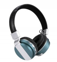 Casti bluetooth Dinamic X3 cu Wireless, izolare zgomot ,control Apeluri si card TF-albastru