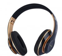 Casti bluetooth Usmart S6 Wireless ,Super Bass, izolare zgomot ,TF card-gold