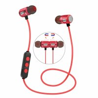 Casti bluetooth Usmart E2 magnetic wireless,red