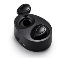 Casti bluetooth TWS-H9 wireless,microfon HD,negru
