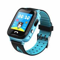 Ceas telefon Smartwatch rezistent la apa cu GPS pentru copii Usmart K2 -albastru