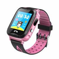 Ceas telefon Smartwatch rezistent la apa cu GPS pentru copii Usmart K2 -roz