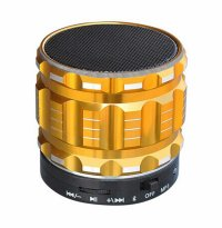 Boxa portabila bluetooth  metalic-super usoara, gold