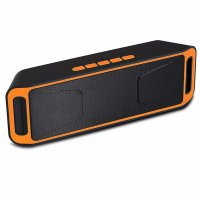 Box portabila Usmart cu Radio FM, 3W, USB, AUX-IN, Slot Card orange