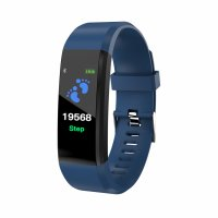 Bratara fitness bluetooth ID115 plus-tensiune,ritm cardiac-blue
