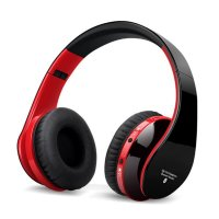 Casti bluetooth Usmart 8252 Wireless, izolare zgomot ,control Apeluri si card TF-red black
