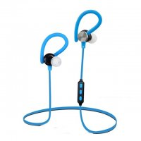 Casti bluetooth Usmart Q6 stereo,Wireless ,anti transpiratie,izolare sunet-albastru