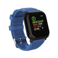 Bratara fitness Aipker DB05- ritm cardiac,tensiunea arteriala,blood oxygen -albastru