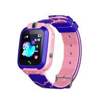 Ceas telefon Smartwatch rezistent la apa cu GPS pentru copii Usmart JM09-roz