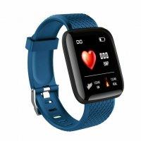 Bratara fitness Aipker ID116- ritm cardiac,tensiunea arteriala -blue