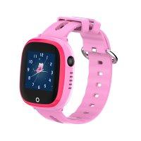 Ceas telefon Smartwatch rezistent la apa cu GPS pentru copii Usmart K7 -roz