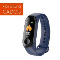 Bratara fitness Aipker M3- ritm cardiac, tensiunea arteriala  -blue