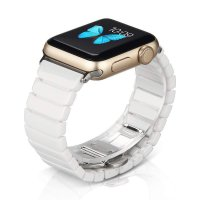 Curea Apple Watch Usmart 42-44 mm ,ceramic white ,compatibil seria 1/2/3/4/5/6