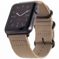 Curea Appel Watch 42-44 mm ,canvas coffee ,compatibil seria 1/2/3/4/5