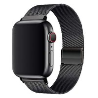 Curea Apple Watch Usmart 38-40 mm ,milan metal black ,compatibil seria 1/2/3/4/5