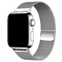 Curea Appel Watch 42-44 mm ,milan metal silver,compatibil seria 1/2/3/4/5
