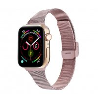 Curea Apple Watch Usmart 42-44 mm ,milan metal rose gold,compatibil seria 1/2/3/4/5/6
