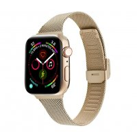 Curea Apple Watch Usmart 42-44 mm ,milanese metal gold,compatibil seria 1/2/3/4/5/6