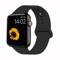 Curea Apple Watch Usmart 42-44 mm ,silicon black ,compatibil seria 1/2/3/4/5/6