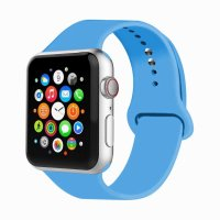 Curea Apple Watch 42-44 mm ,silicon blue ,compatibil seria 1/2/3/4/5