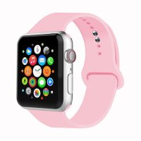 Curea Apple Watch 42-44 mm ,silicon pink,compatibil seria 1/2/3/4/5/6