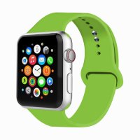 Curea Apple Watch 42-44 mm ,silicon verde ,compatibil seria 1/2/3/4/5