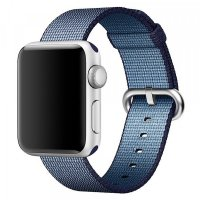 Curea Apple Watch 42-44 mm ,nylon blue ,compatibil seria 1/2/3/4/5
