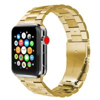 Curea Apple Watch 42-44 mm ,metalic steel gold ,compatibil seria 1/2/3/4/5