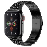 Curea Apple Watch 42-44 mm ,metalic steel black ,compatibil seria 1/2/3/4/5/6